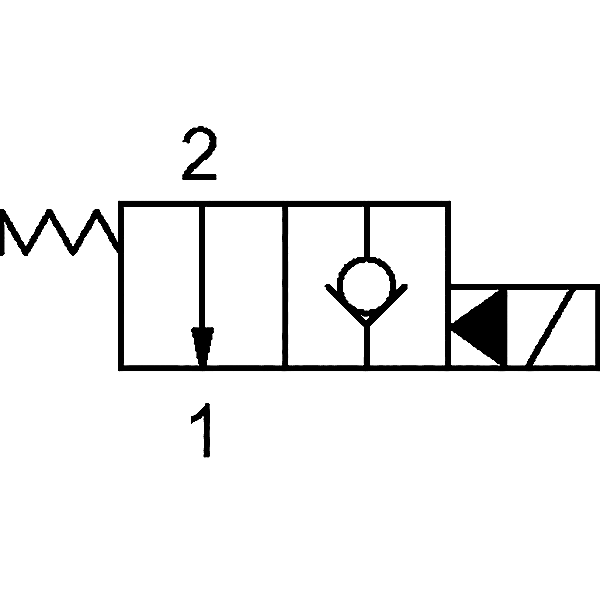 2/2 Wegeventil stromlos offen 24V/DC (NO) 3/4-16UNF-Ø12,7 H7