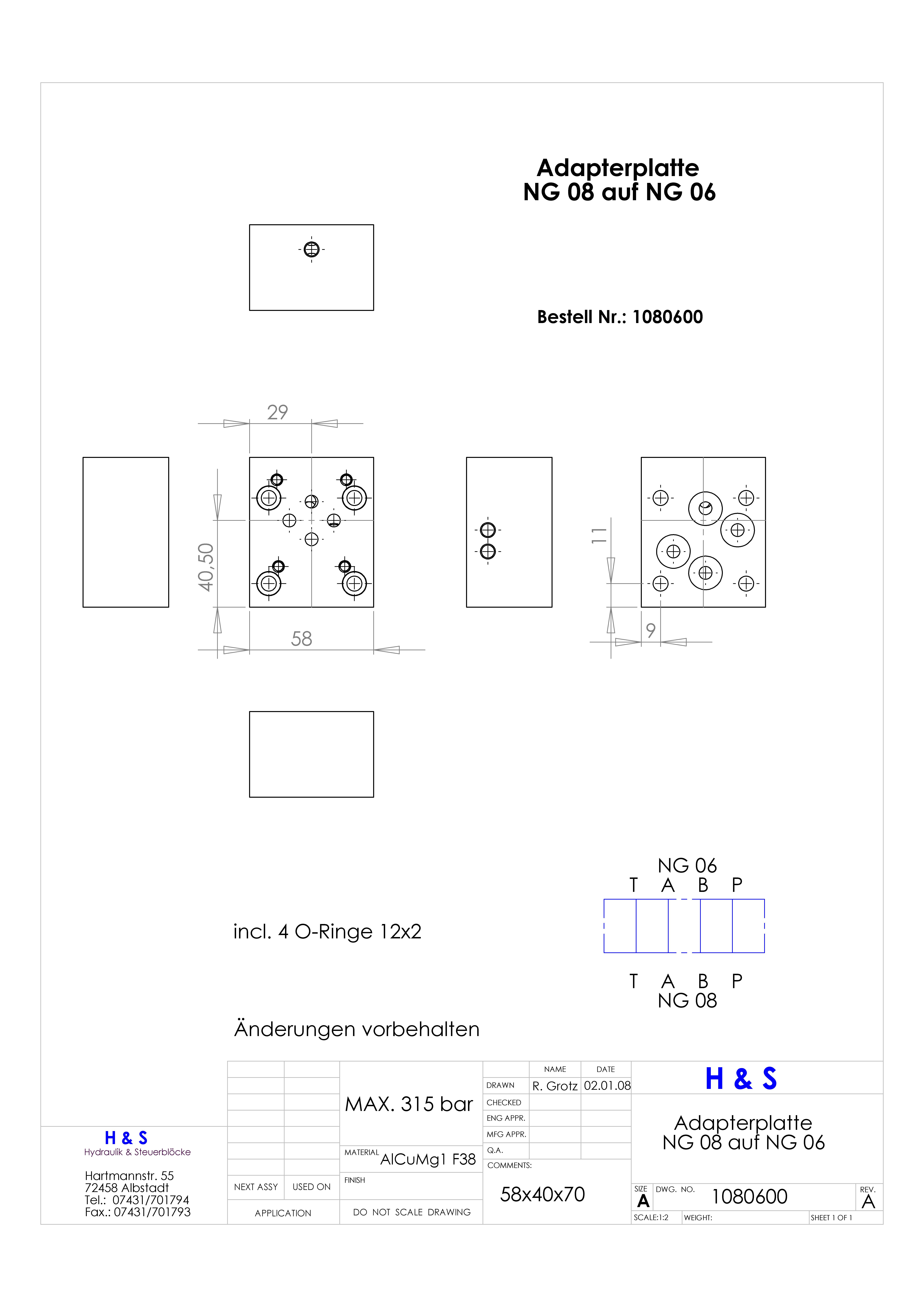 Adapterplatte-NG08-auf-NG06