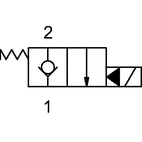2/2 Wegeventil stromlos geschlossen 24V/DC 3/4-16UNF-Ø12,7 H7