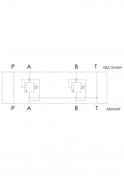 Zwischenplatte NG6 für Schockventil in A+B (VLP40)