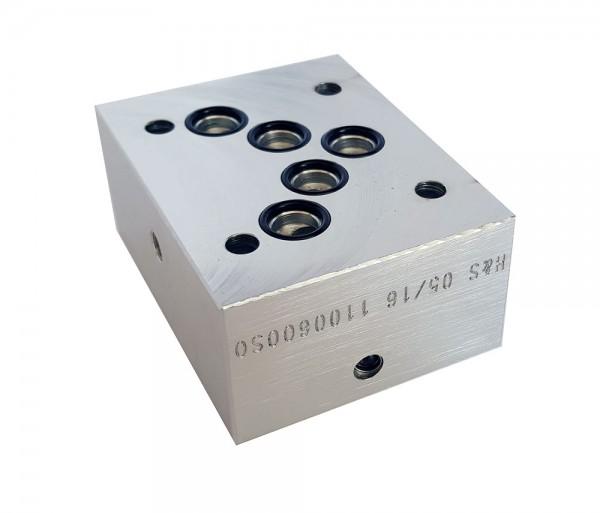 Adapterplatte NG10 auf NG06 (A-A / B-B)
