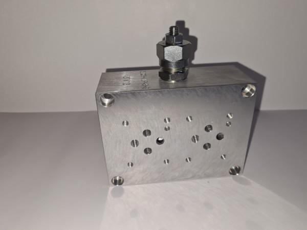 Anschlussplatte NG6 2-fach mit DBV VLP45-C-02-A
