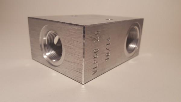 """VLP80-34 Ventilgehäuse P+T 3/4"""""""