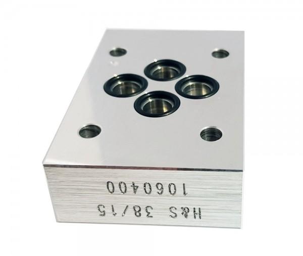 Adapterplatte NG06 auf NG04 ISO 4401