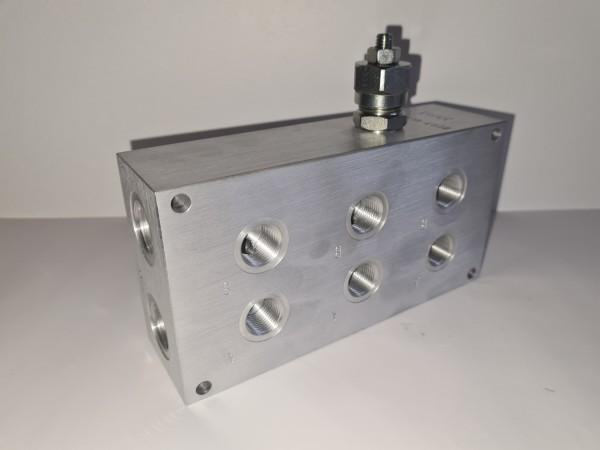 Anschlussplatte NG6 3-fach mit DBV VLP45-C-02-A