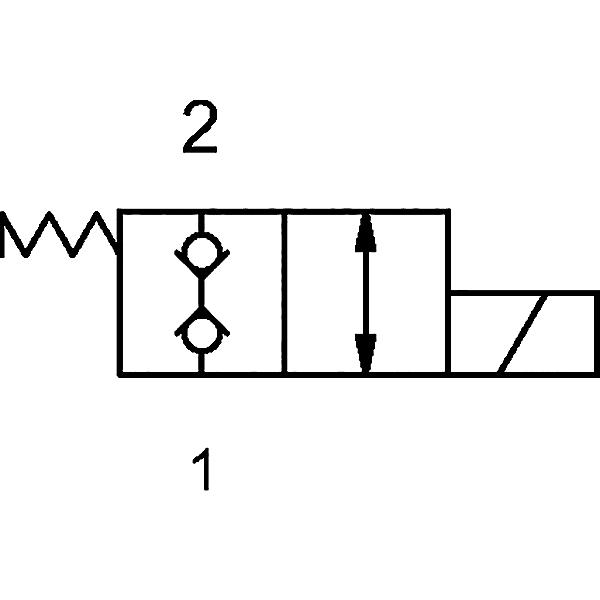 2/2 Wegeventil stromlos doppelt geschlossen (NC) 24V/DC 3/4-16UNF-Ø12,7 H7